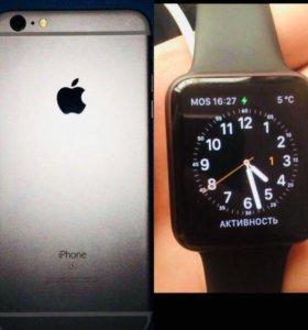 iPhone 6s Plus и Apple Watch