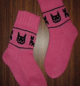 Шерстяные носки КОТЫ 🐈