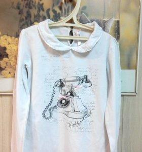 Белая блузка для девочки, 140