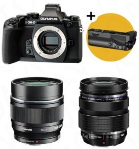 Olympus OM-D E-M1 + объектив 75 mm