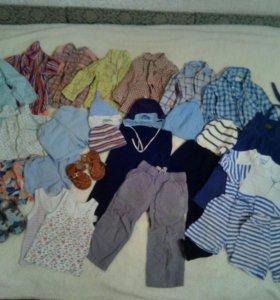 Одежда пакетом на мальчика от 1,5-3 лет