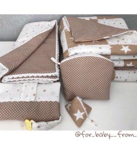 Комплект (дет.лоскутное одеяло, плед и аксессуары)