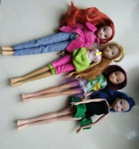 Винкс куклы пакетом 4 шт