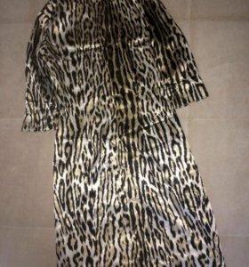 Платье шёлк с пояском