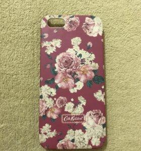 Чехол на iphone 5/5s/se с цветочками, розовый