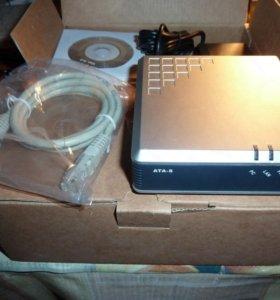 Телефонный адаптер для IP телефонии, линии VoIP