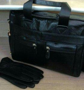 Классическая мужская сумка новая