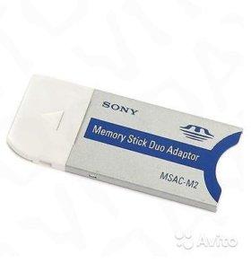 Sony Msac-m2 Memory Stick Pro Duo Adaptor