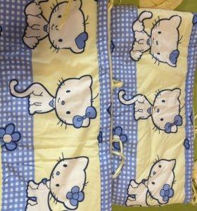 Продам балдахин и противоударники,одеяло