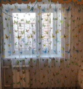 Тюль+шторы
