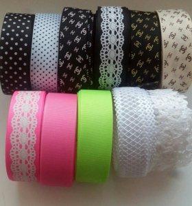 Набор: Репсовые ленты и кабошоны