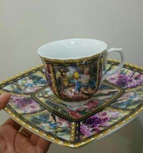 Чайная кружка с блюдцем