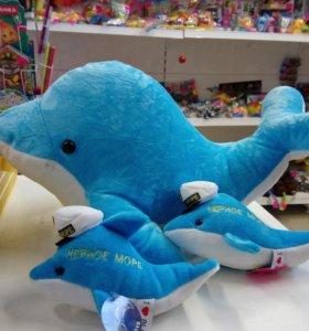 Мягкая игрушка 🐬 дельфин большой