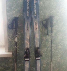 Горные лыжи,ботинки,палки.