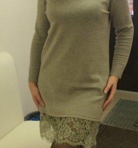 Платье с французским Кружевом кашемир