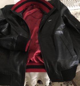 Фирменная Кожаная куртка Бриони