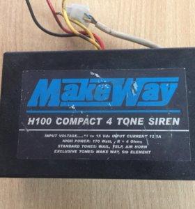 СГУ MakeWay H100 compact 4 tone siren