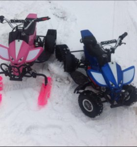 Детские электрические квадроцикл-снегоход