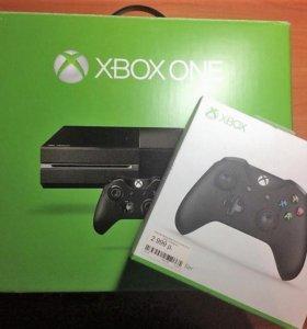 Продам Xbox ONE, 2 геймпада, 7 дисков