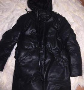 Новая кож.куртка зима