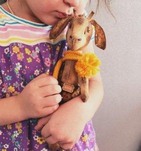 Жираф тедди. Жирафик. Игрушка. Подарок. Скидка.