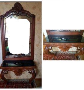 Консоль с зеркалом, туалетный столик
