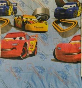 Комплект детских штор тачки