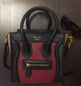 Кожаная сумка мини Celine