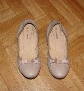 Кожаные балетки, 37-38 р-р