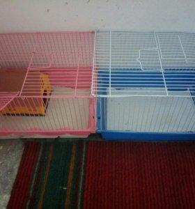 Клетка + все для содержания крысы