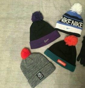Шапки Nike, Adidas, Cropp