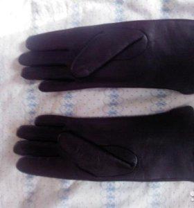 Перчатки женские кожа 6.5 р-р