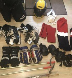 Хоккейная экипировка - форма, защита, коньки