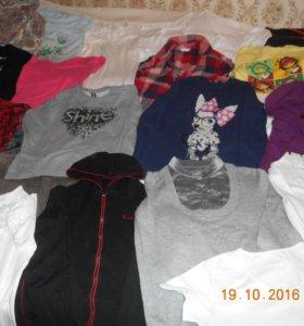 джемперы.,футболки , кофты для девочек