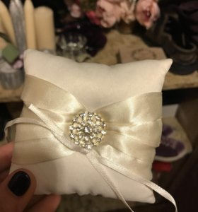 Подушка для колец, свадьба