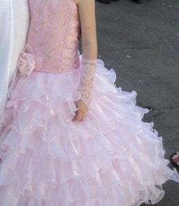 Платье для девочки новогоднее. Рост 129-134