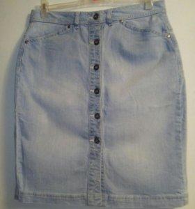 Юбка джинсовая 46 хлопок стрейч