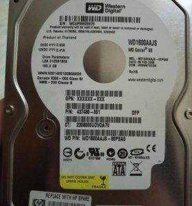 Жоский диск WD 160GB