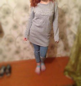 Платье-туника ,толстовка
