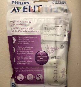 Пакеты для хранения грудного молока Fhilips Avent