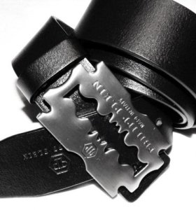 Стильный кожаный ремень PhilippPlein black новый