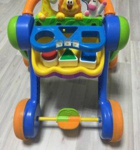 Каталка-ходунки KIDDIELAND Джунгли