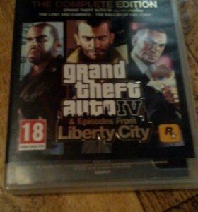 Игра на PS3 GTA4