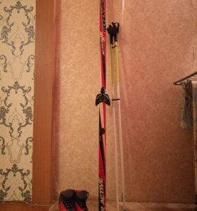 Лыжи Nordway, палки и ботинки