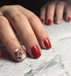 Маникюр Гель лак Выравнивание ногтевой пластины