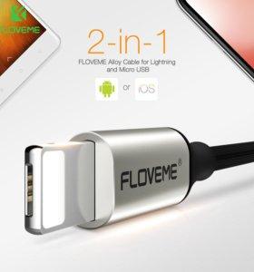 Floveme 2 в 1 кабель для Android и iOS