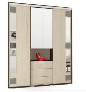 Шкаф купе 170см, зеркала,ящики,штанги.