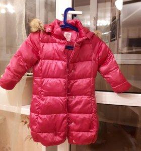 Куртка для девочки пух/перо