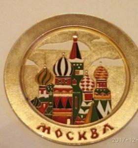 Сувенирная тарелочка ссср Москва