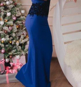 Платье в пол по фигуре